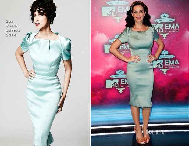 Katy Perry In Zac Posen - 2013 MTV EMAs