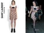 Katy Perry's Saint Laurent Sequined Bow Floral Dress