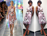 Kelly Rowland In Christopher Kane - 'The X Factor' Season 3 Top 13 Live Performance Show