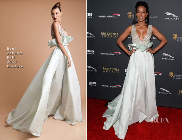 Kelly Rowland In Rani Zakhem Couture - 2013 BAFTA Los Angeles Britannia Awards
