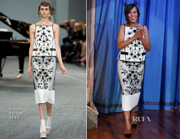 Kerry Washington In Erdem - Late Night With Jimmy Fallon