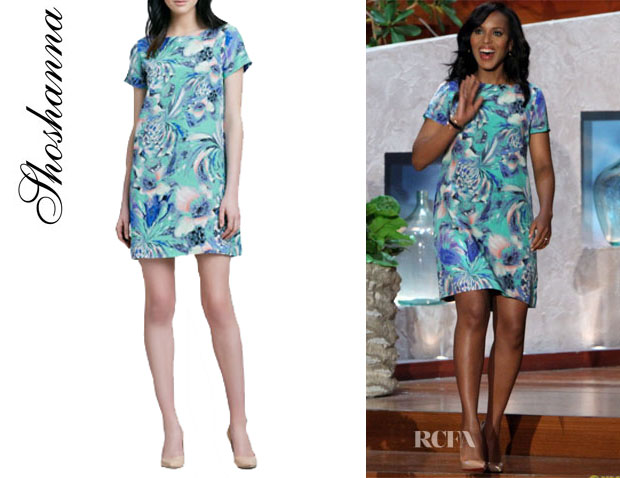 Kerry Washington's Shoshanna 'Selma' Floral-Print Shift Dress