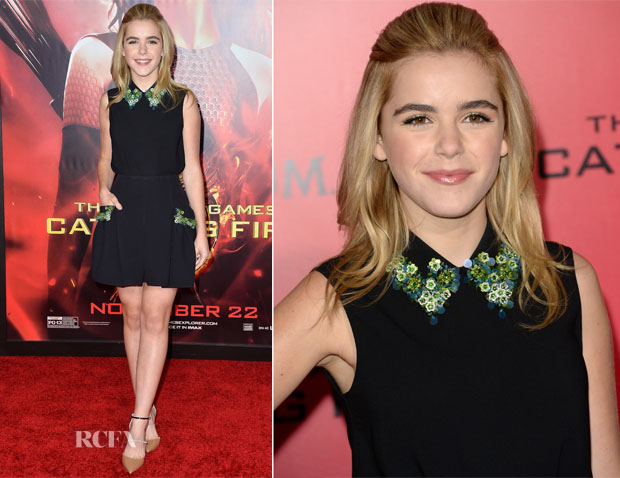 Kiernan Shipka In Miu Miu - 'The Hunger Games Catching Fire' LA premiere