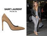 Kim Kardashian's Saint Laurent 'Paris' Suede Pumps