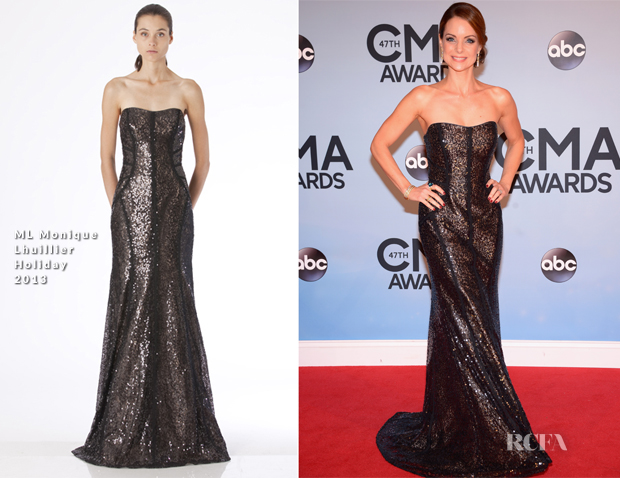 Kimberly Williams-Paisley In ML Monique Lhuillier - 2013 CMA Awards