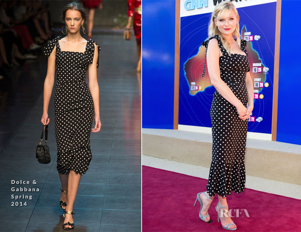 253426bc45 Kirsten Dunst In Dolce   Gabbana –  Anchorman 2  The Legend Continues   Sydney Premiere