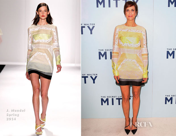 Kristen Wiig In J Mendel - 'The Secret Life Of Walter Mitty' Sydney Premiere