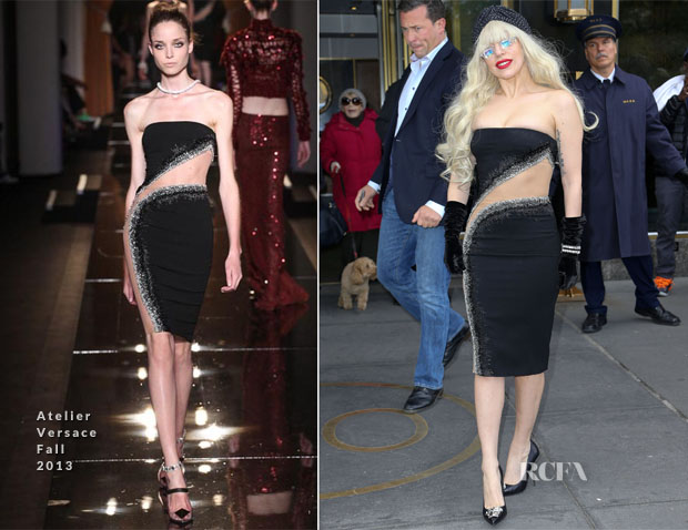Lady Gaga In Atelier Versace Out New York City