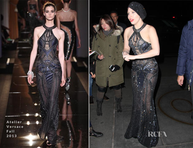 Lady Gaga In Atelier Versace - 'Saturday Night Live' Rehearsal