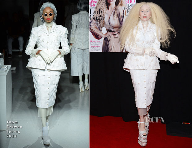 Lady Gaga In Thom Brown -  Glamour Magazine Women Of The Year 2013