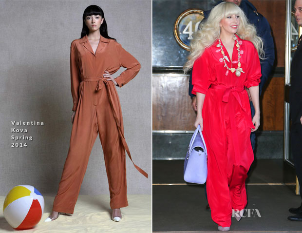 Lady Gaga In Valentina Kova - Out In New York City