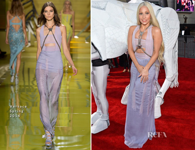 Lady Gaga In Versace - 2013 American Music Awards