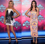 Laura Whitmore In Fyodor Golan & Louise Roe In Mara Hoffman - 2013 MTV EMAs