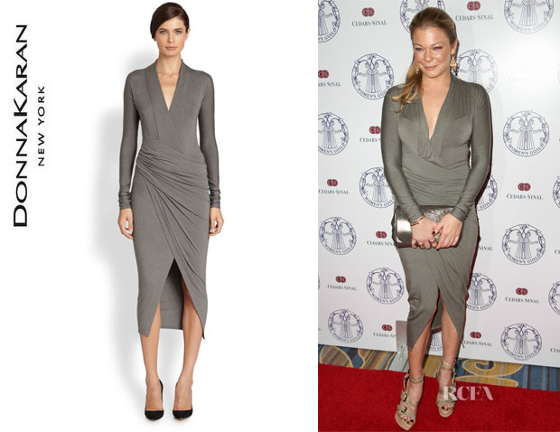 LeAnn Rimes' Donna Karan Plunging Twist Dress