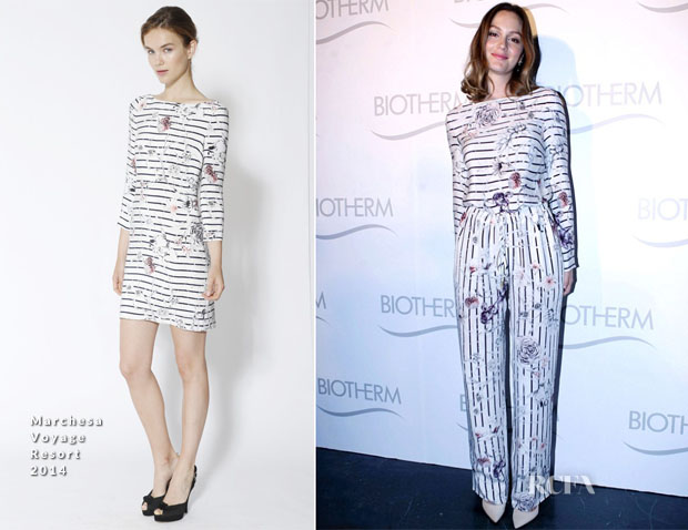 Leighton Meester In Marchesa Voyage - Biotherm Shanghai Launch 2