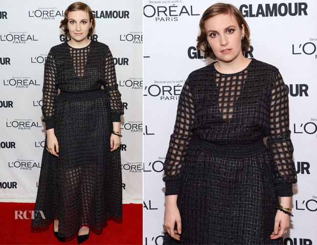 Lena Dunham In Theory by Olivier Theyskens - Glamour Magazine Women Of The Year 2013