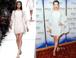 Li Bingbing In Elie Saab - China Film Summit And Gala Dinner