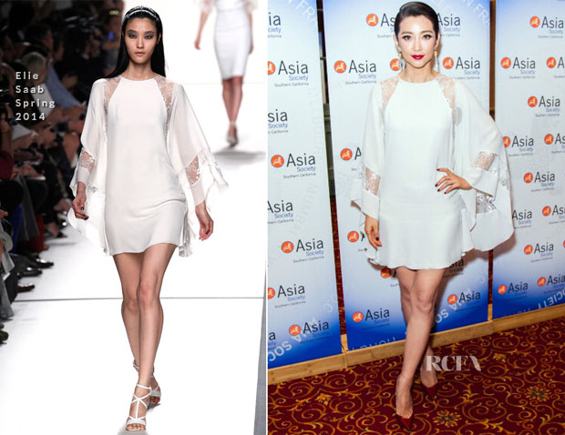 Li Bing Bing In Elie Saab - China Film Summit And Gala Dinner