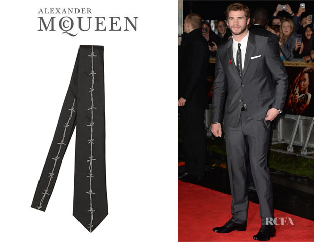 Liam Hemsworth's Alexander McQueen Barbed Wire Tie