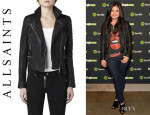 Lucy Hale's All Saints 'Pitch' Biker Jacket