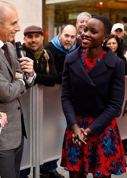 Lupita Nyong'o In Miu Miu - The Today Show