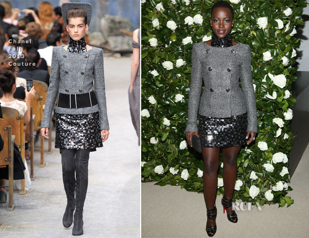 Lupita Nyong'o In Chanel Couture - MoMA Benefit A Tribute to Tilda Swinton