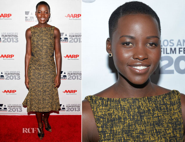 Lupita Nyong'o In J Mendel - '12 Years A Slave' Movies For Grownups Film Festival Screening
