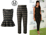 Marisa Tomei's Mother of Pearl 'Leona' Top And Mother Of Pearl 'Anastasia' Tailored Trousers