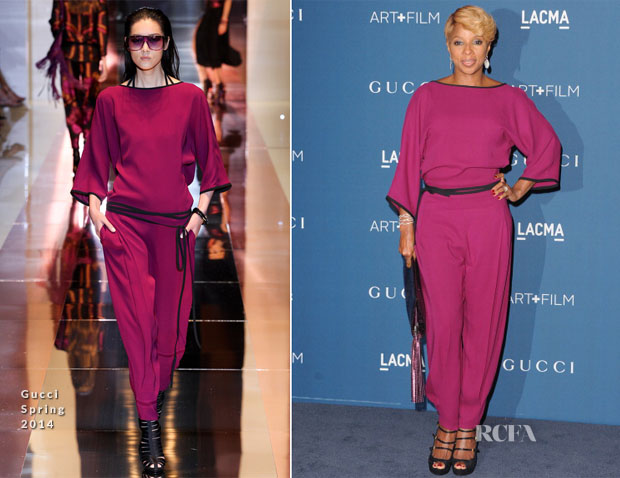 Mary J Blige In Gucci - LACMA Art + Film Gala 2013