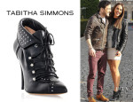 Melanie Chisholm's Tabitha Simmons Wicked Studded Lace-Up Boots