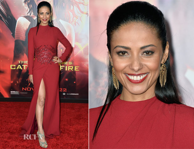 Meta Golding In Georges Hobeika - 'The Hunger Games Catching Fire' LA Premiere
