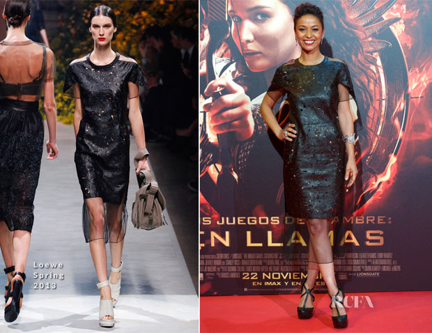 Meta Golding In Loewe - 'The Hunger Games Catching Fire' Madrid Premiere