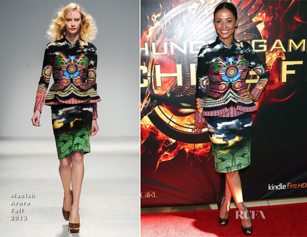 Meta Golding In Manish Arora - 'The Hunger Games Catching Fire' Victory Mall Tour