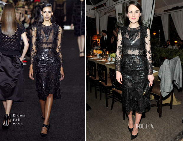 Michelle Dockery In Erdem - Dinner In Honor Of Erdem
