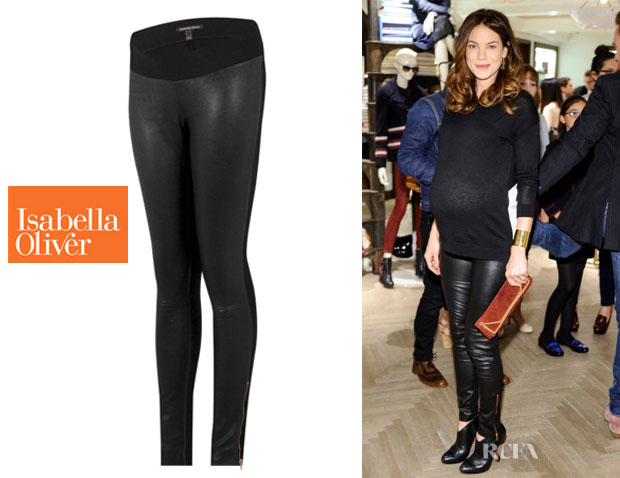 Michelle Monaghan's Isabella Oliver 'Dover' Leather Maternity Leggings