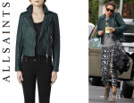 Michelle Monaghan's All Saints 'Forest' Leather Biker Jacket