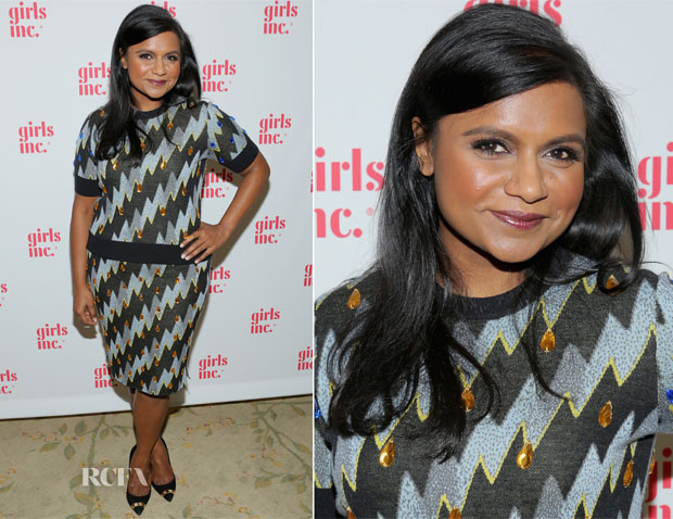 Mindy Kaling In Kenzo - Girls Inc Los Angeles Celebration Luncheon