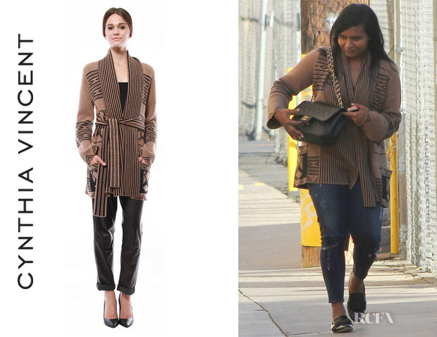 Mindy Kaling's Cynthia Vincent 'Log Cabin' Sweater