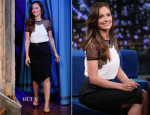 Minka Kelly In Michael Kors - Late Night with Jimmy Fallon