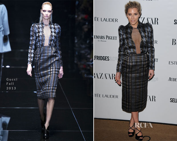 Mollie King In Gucci - Harper's Bazaar Woman Of The Year Awards 2013