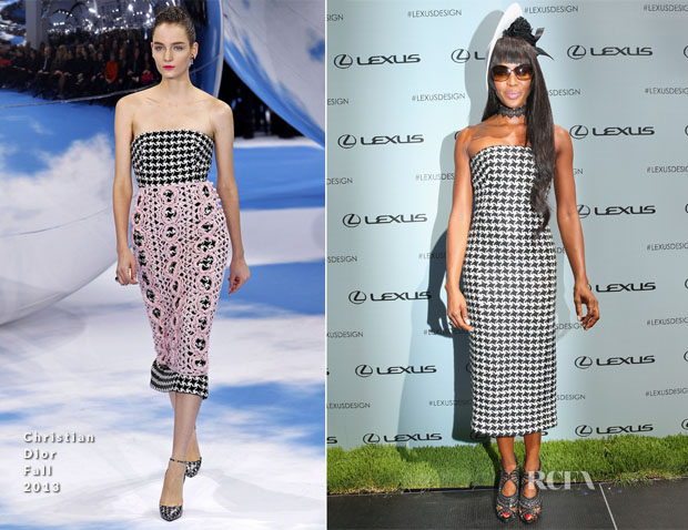 Naomi Campbell In Christian Dior - Victoria Derby Day