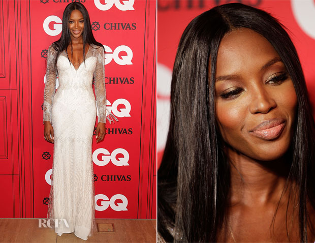 Naomi Campbell In Roberto Cavalli - GQ Men Of The Year Awards