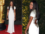 Naomie Harris In Burberry - Governors Awards 2013