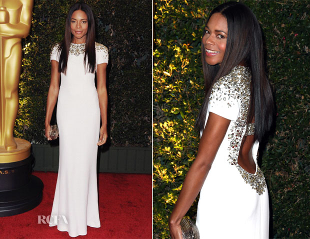 Naomie Harris In Burberry Prorsum - Governors Awards 2013