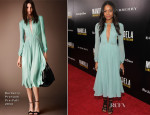Naomie Harris In Burberry Prorsum - 'Mandela: Long Walk To Freedom' Special New York Screening