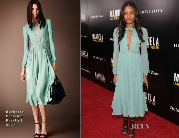 Naomie Harris In Burberry Prorsum - 'Mandela Long Walk To Freedom' Special New York Screening