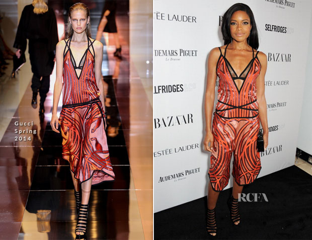 Naomie Harris In Gucci - Harper's Bazaar Woman Of The Year Awards 2013