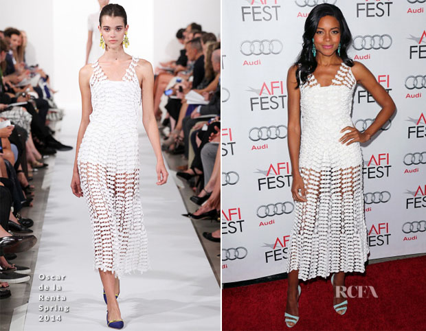 Naomie Harris In Oscar de la Renta - 'Mandela Long Walk To Freedom' AFI Fest Premiere