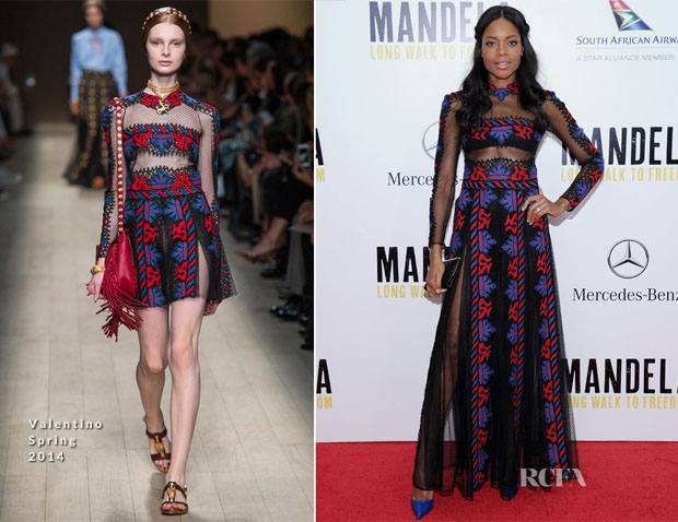 Naomie Harris In Valentino - 'Mandela Long Walk To Freedom' New York Premiere