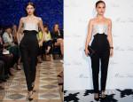Natalie Portman In Christian Dior - 'Esprit Dior, Miss Dior' Exhibition Opening Photocall